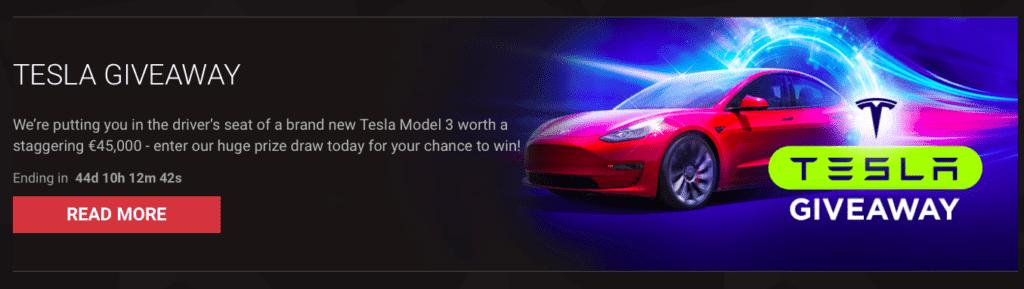 Get a Tesla car at BitStarz online casino
