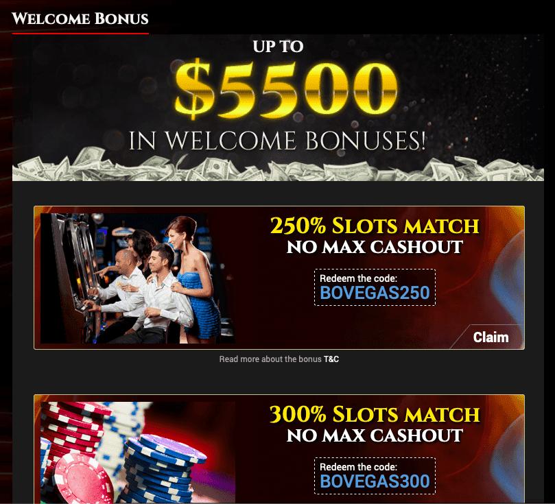 BoVegas Casino Bonus offers and Promotions