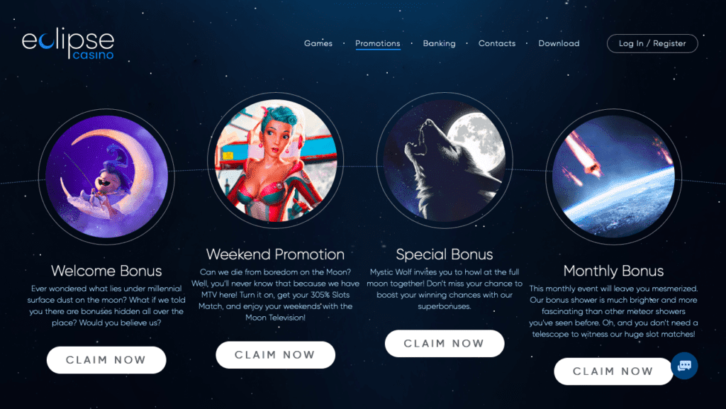 Eclipse Casino Bonus offers and promotions