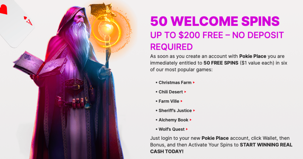 Pokie Place no deposit bonus offer