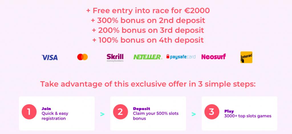 Spin Pug casino bonus offer