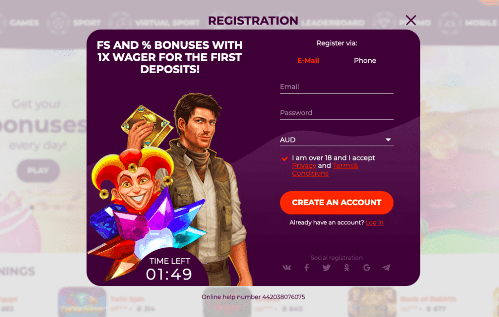 All Right casino registration