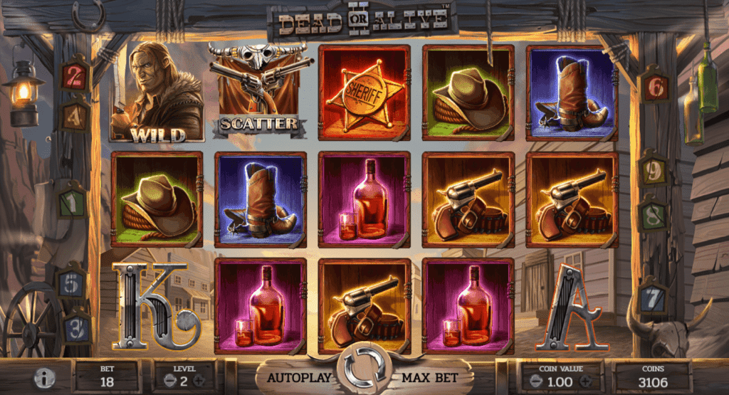 Dead or Alive 2 slot machine by NetEnt