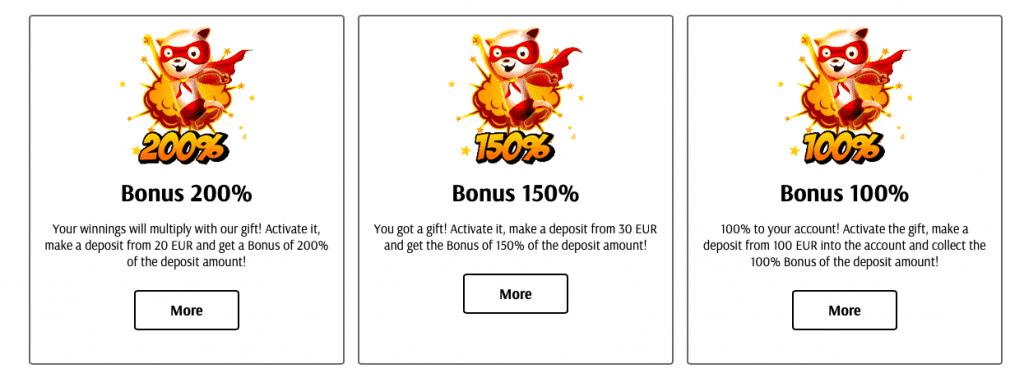 Super Cat casino bonus