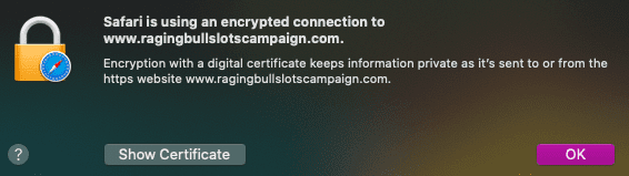 Encryption with a digital certificate in Australian online casino