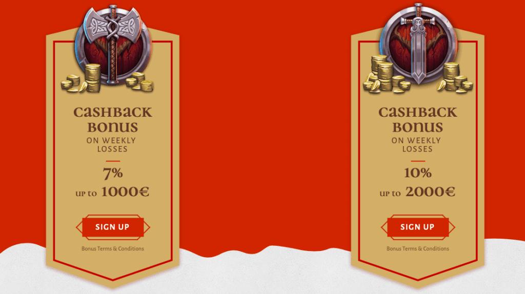 Avalon 78 Casino cashback bonus offer!