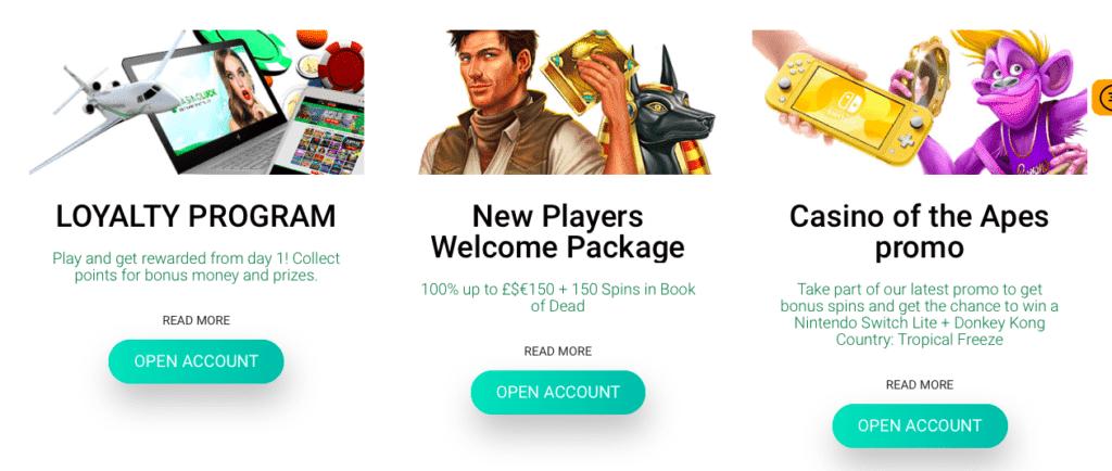 CasinoLuck Bonus offers and promotions