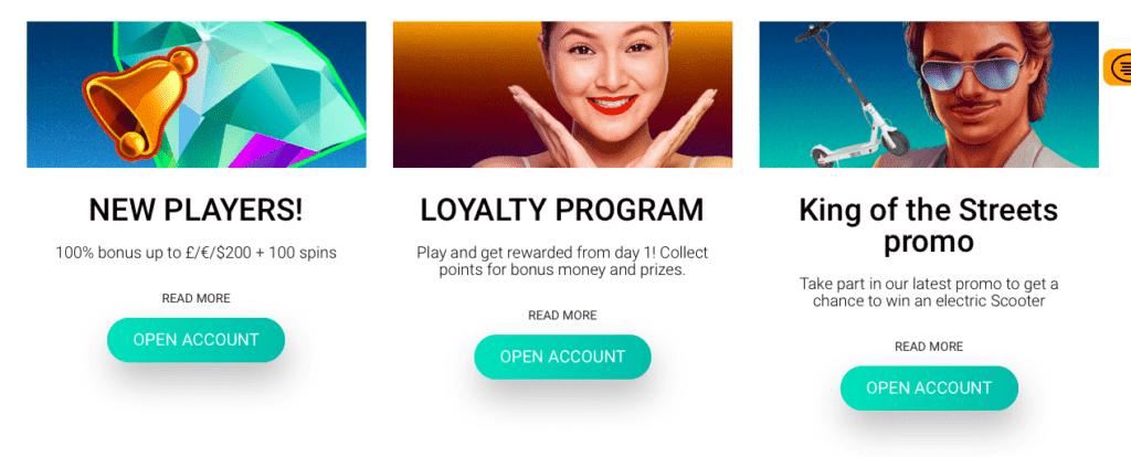 NextCasino bonus offers and promotions